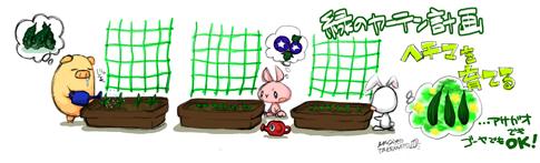 緑のカーテン計画「ヘチマを育てる」…アサガオでもゴーヤでもOK!