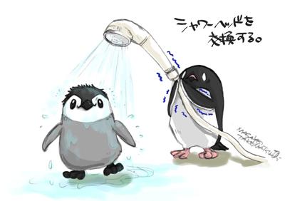 シャワーヘッドを交換する。