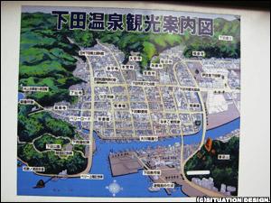 下田温泉観光案内図