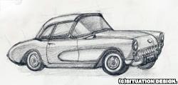 1957 コルベット 2ドア・コンバーチブル