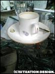 お茶したカップ。タマゴ柄